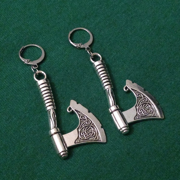Ancient Warrior Axe Earrings