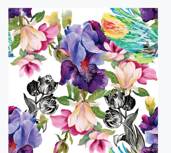 Decoupage - Colorful Floral