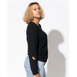 Botanic Cut Out Sweatshirt - Black