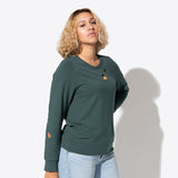 Botanic Cut Out Sweatshirt - Forest Green