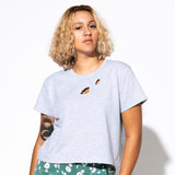 Botanic Cut Out Tee - Heather Gray