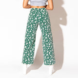 Daisy Wide Leg Jeans - Green