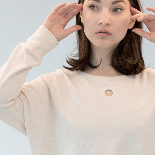 Hole Punch Sweatshirt - Cream Heather French Terry