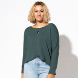 Hole Punch Sweatshirt - Forest Green French Terry