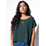 Hole Punch Tee - Forest Green - Bamboo + Cotton