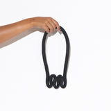 Squiggle Necklace - Black