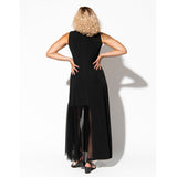 Viola Maxi Dress - Asymmetrical Sheer Dress