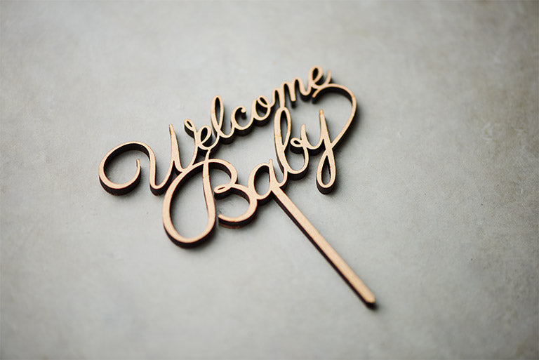 Welcome baby ケーキトッパー