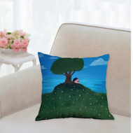 Blossom's Story Sits Atop Strawberry Hill Accent Pillow