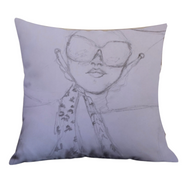 Color Me: Sister Sunshower Accent Pillow
