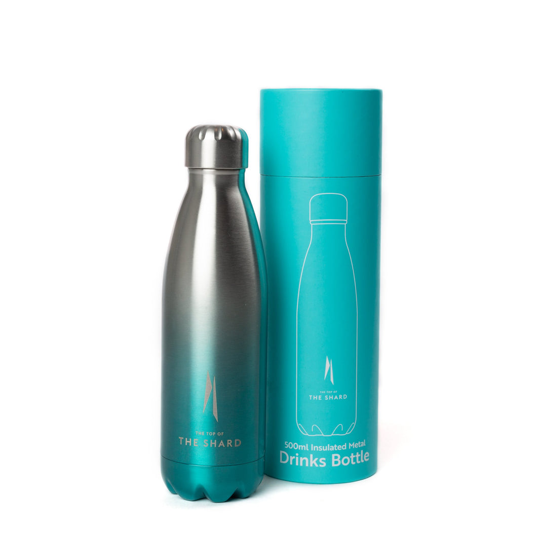 The Shard Thermo Bottle - Turquoise/ Silver