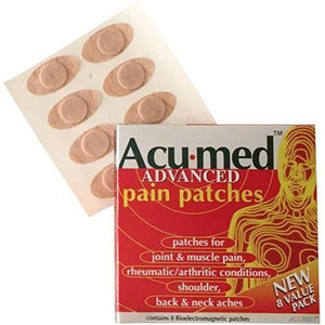 2 packs of 8 patches - ACUMED Magnetic Pain Relief Patches