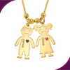 Image of Necklace With Engraved Children Charms - wow factor store