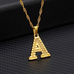 Gold Plated Initial Necklace For Women