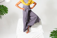 Load image into Gallery viewer, Selena Wrap Pant + Jumpsuit - Dusty Blue