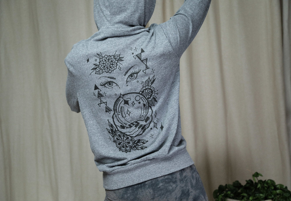 Crystal Ball IXM Recycled Zip Up Hoodie