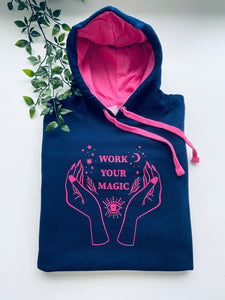 Work your magic Varsity two tone hoodie