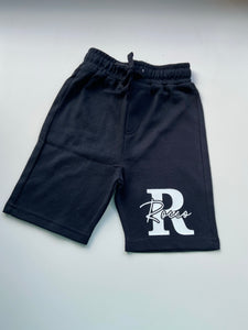 Cut out Initial and signature shorts