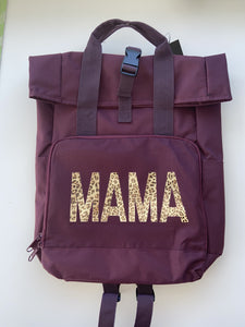 Mama Roll top backpack