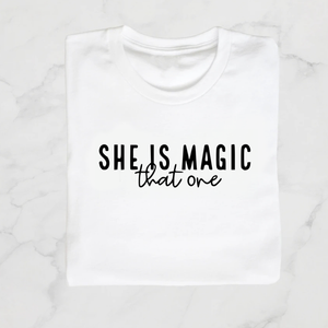 She is magic kids tee