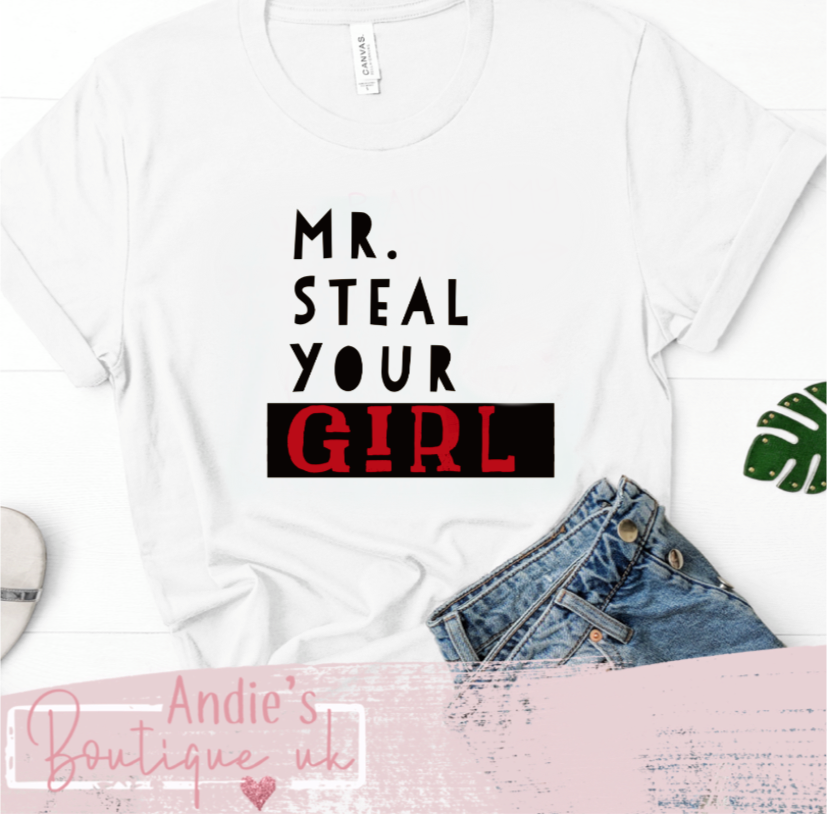 Mr steal your girl kids tee