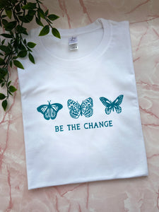 Be the change butterfly tee
