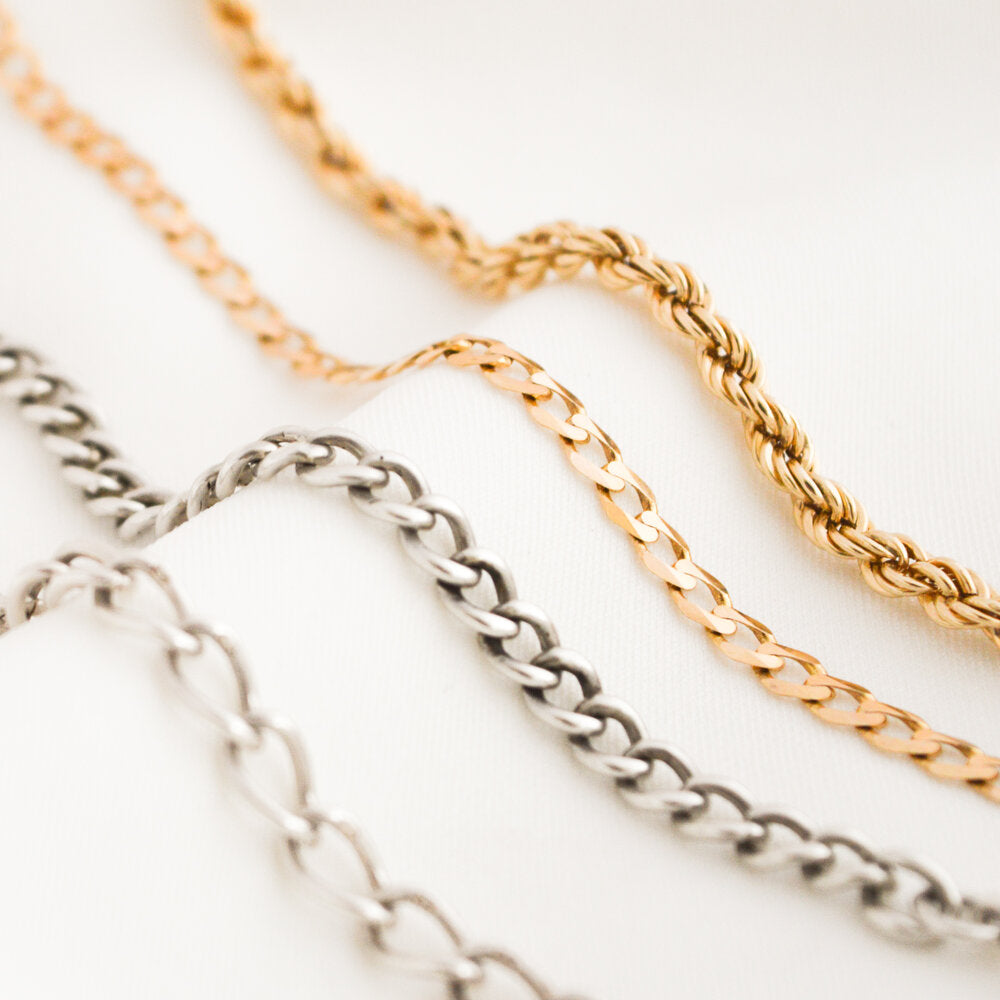 Rope-Style Gold Chain Bracelet