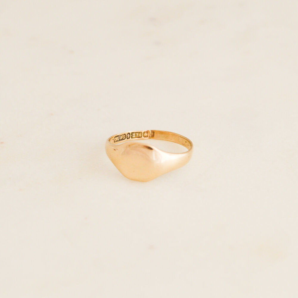 Plain Gold Signet Ring
