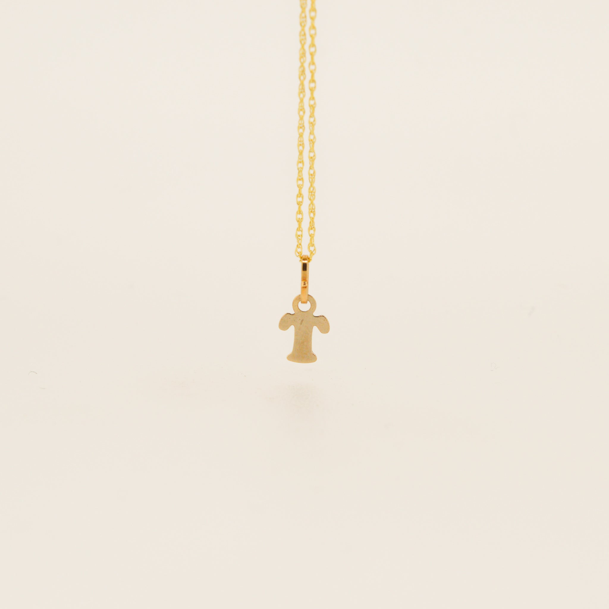 Miniature 9ct Gold T Initial Pendant
