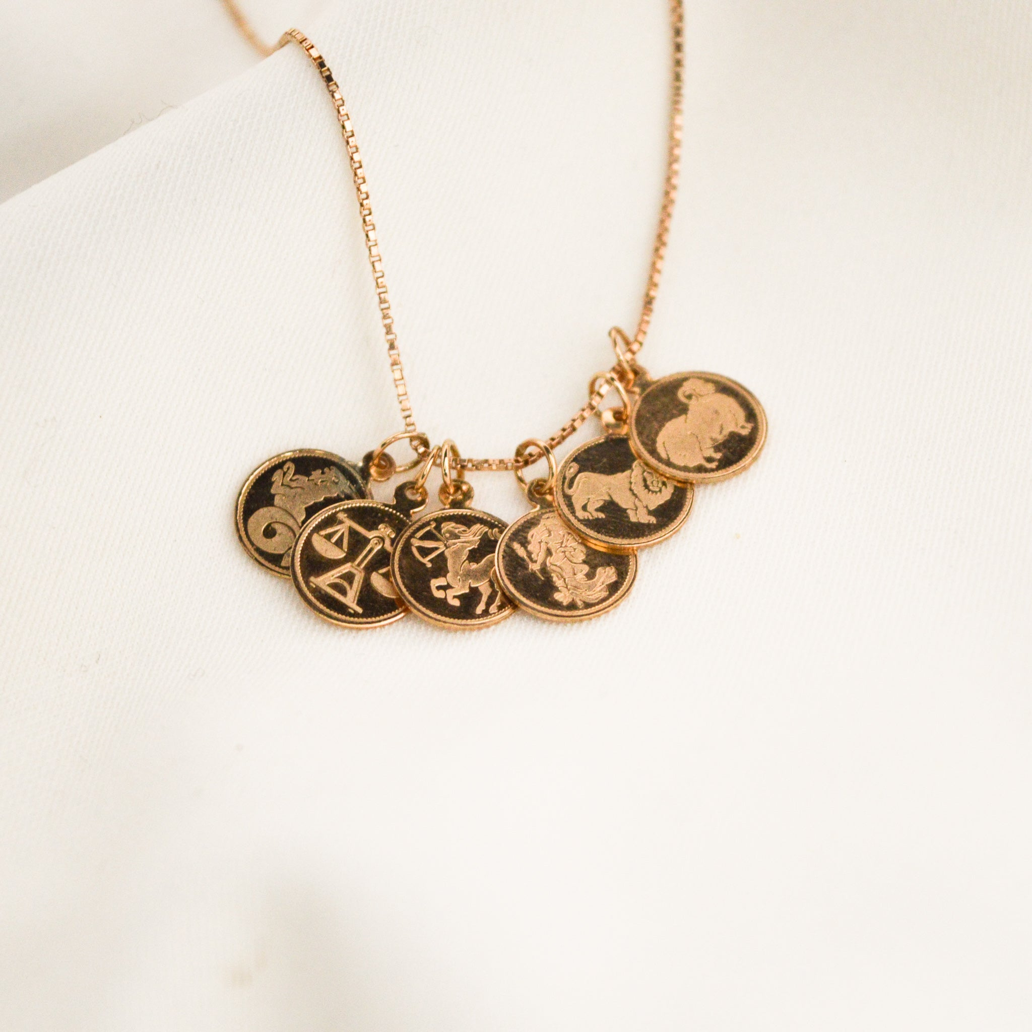 Mini Sagittarius Rose Gold Pendant