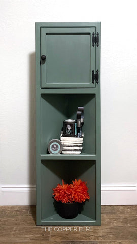 Painted corner cabinet with Wise Owl paints