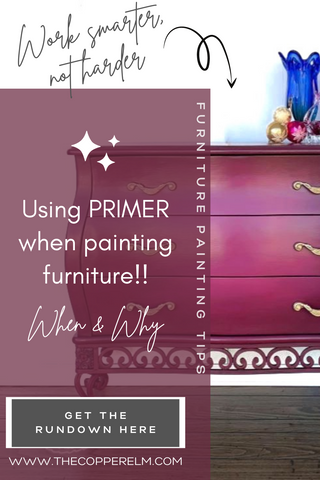 When to use primer when painting furniture and why it is helpful