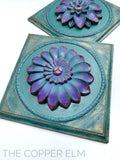 TURQUOISE WALL MEDALLIONS