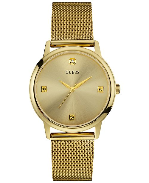 GOLD TONE CASE GOLD TONE STAINLESS STEEL/MESH WATCH