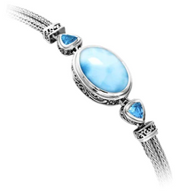 Load image into Gallery viewer, Azure Pear Larimar Bracelet