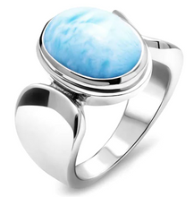 Load image into Gallery viewer, Caressa Larimar Ring