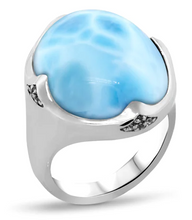 Load image into Gallery viewer, Cocktail Larimar Ring