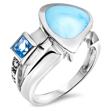 Load image into Gallery viewer, Curva Larimar Ring
