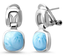 Load image into Gallery viewer, Del Mar Larimar Earrings