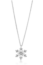 Load image into Gallery viewer, Diamond Snowflake Necklace
