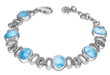Load image into Gallery viewer, Eclipse Larimar Bracelet