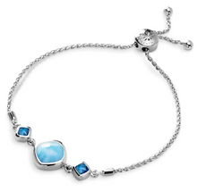 Load image into Gallery viewer, Hideaway Blue Spinel Larimar Bracelet