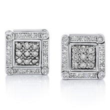 Load image into Gallery viewer, Convertible Diamond Earrings set in 925 Silver