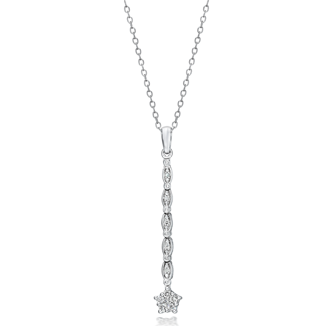 Convertible Diamond Necklace set in 925 Silver