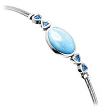 Load image into Gallery viewer, Naples Larimar Bracelet
