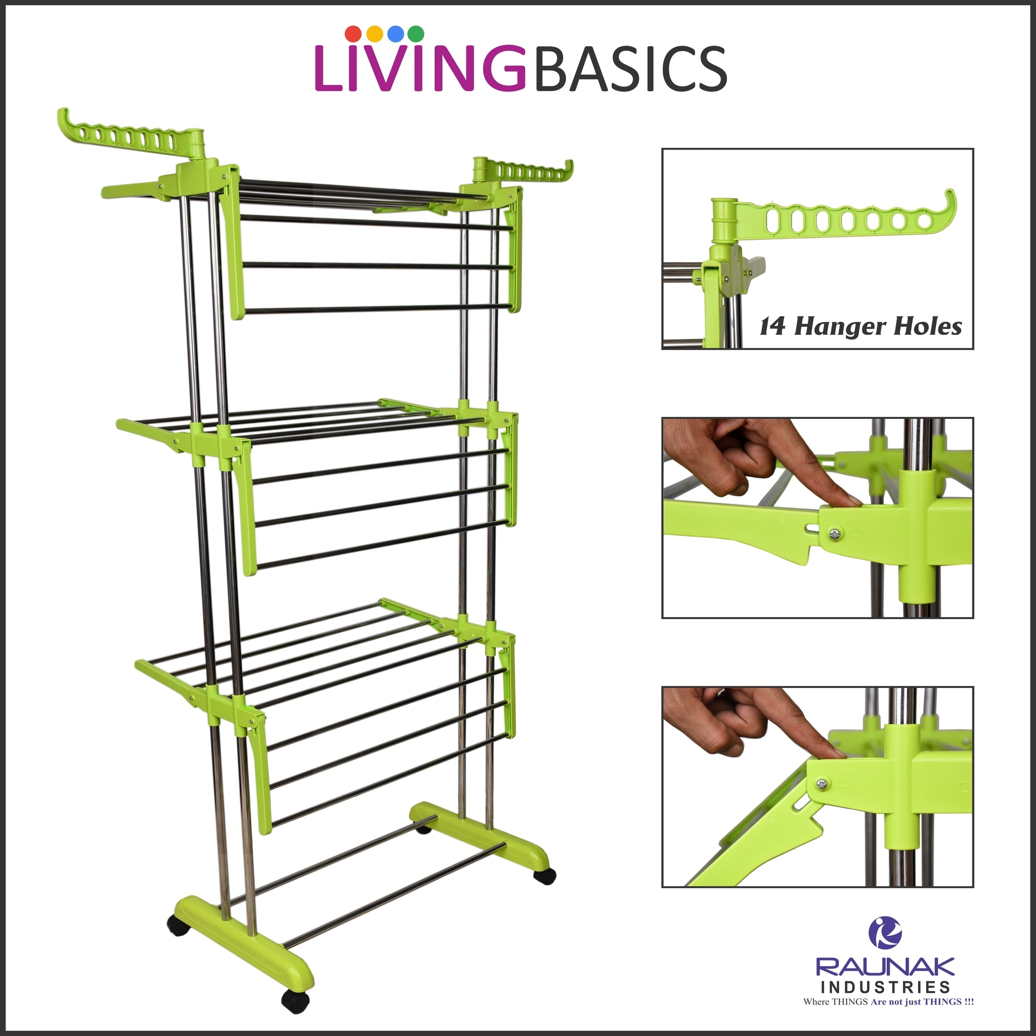 Lime Green Clothes Drying Racks