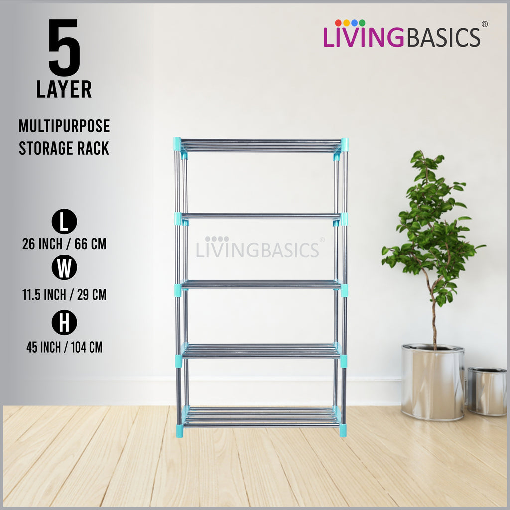 5 Layer Multipurpose Storage Rods Rack