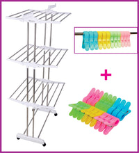 Snow White Clothes Drying Racks with Rod Cloth Clip