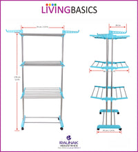 Cyan Blue Clothes Drying Racks