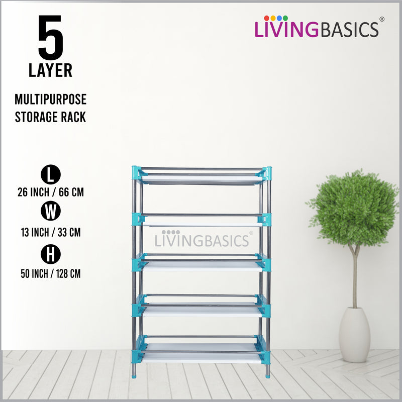 5 Layer Multipurpose Storage Shelves with Paper Looking Plastic Sheets